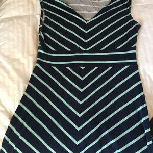 Slimming striped maxi dress